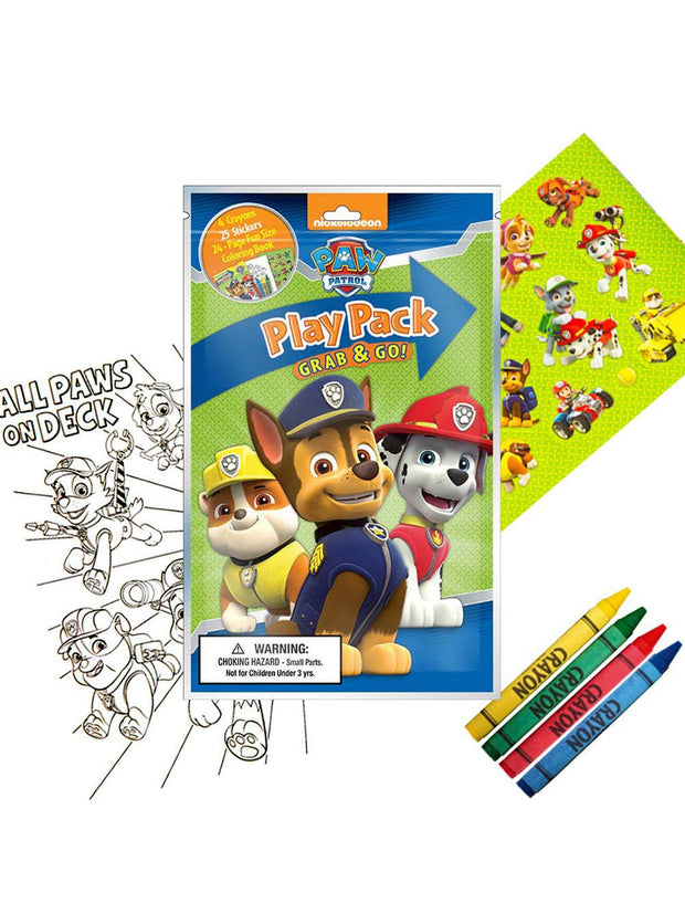 Paw Patrol Kids Grab-n-Go Play Pack Party Favor Gift 10-Pack