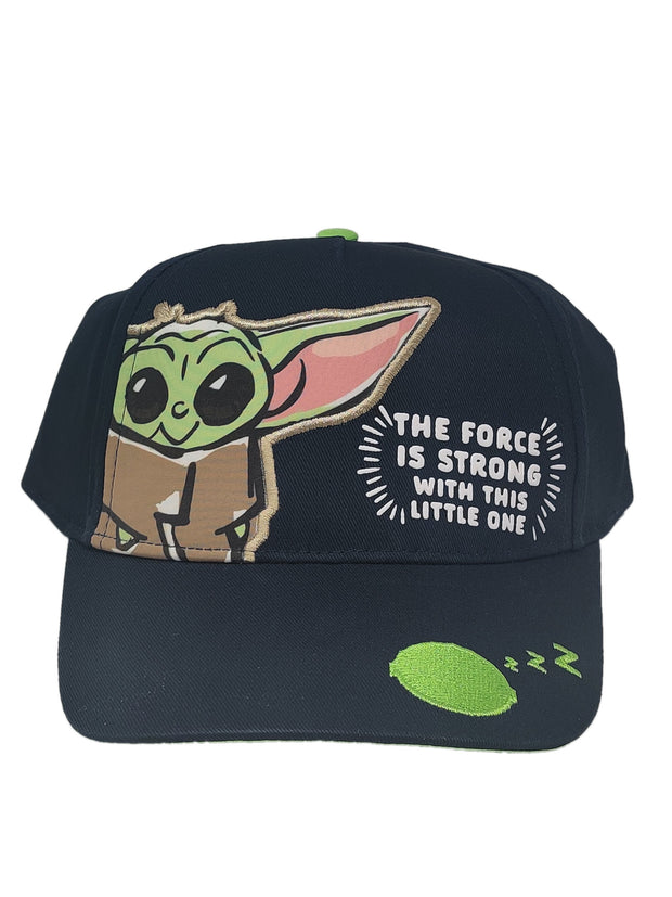 Kids Youth Star Wars Baby Yoda Grogu Baseball Hat Cap Black Force Is Strong