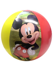 Disney Mickey Minnie Goofy Beach Towel 58x28 w/ Kids Inflatable Beach Ball 13.5