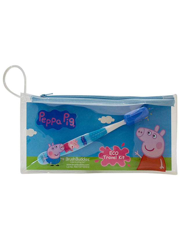 Peppa Pig Zip Pouch w/ Toothbrush Travel Kit