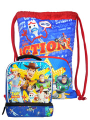 "Disney Pixar Toy Story 4 Sling Bag 15"" w/ 2 Compartment Insulated Lunch Bag Set"