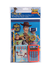 Toy Story 4 7-Pcs Stationery Set Notepad Memo Pad Pencils Sharpener Calculator