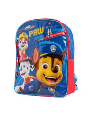 "Paw Patrol Boys Large 15"" Backpack Is On A Roll Blue"
