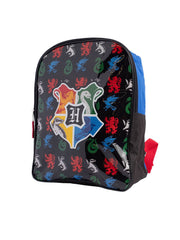 "Harry Potter Kids Large 15"" Backpack Hogwarts School Emblem Black Blue"