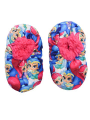 Nickelodeon Infant Fuzzy Babba Shimmer & Shine Slipper w/Grippers (12-24 Month)
