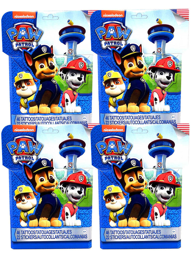 Kids Paw Patrol 46 Tattoos and 22 Stickers Activity Set 4 Pack