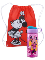 "Disney Minnie Mouse 18"" Sling Bag w/ 16.5oz Flip Top Sullivan Water Bottle Set"