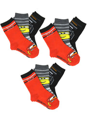 Boys Disney Cars Lighting Mcqueen Crew Socks Size 10-4 (9-Pairs)