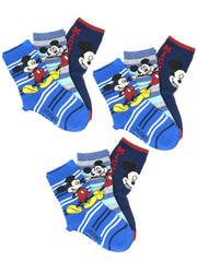 Disney Boys Mickey Mouse Smiling Crew Socks Size  (9-Pairs) Blue