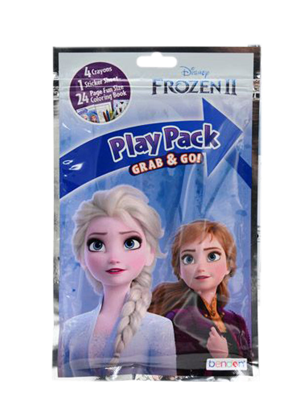 Girls Disney Frozen 2 Grab-n-Go Play Pack Stickers Crayons Party Favors 10 Ct