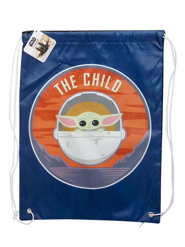 Star Wars Rain Poncho w/ Baby Yoda Sling Bag Water Bottle Clippys Stickers 5Pc