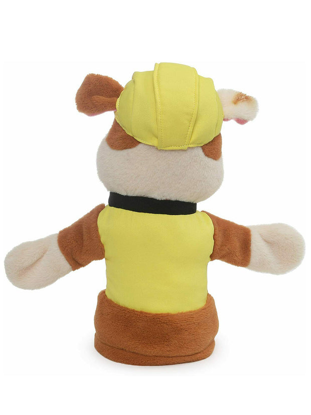 "Paw Patrol Rubble 11"" Hand Puppet Plush English Bulldog Construction Puppy"