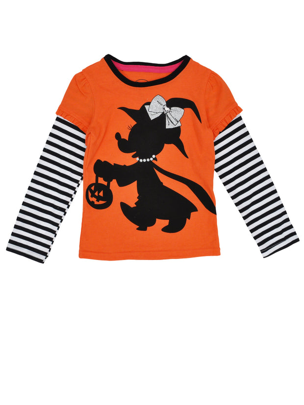 Disney Baby Toddler Girls Minnie Mouse Witch Long Sleeve Shirt (12 Months)