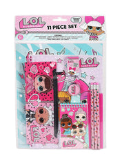L.O.L. Surprise! Girls 11-Piece School Supplies Writing Stationery Set