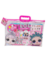 Girls LOL Surprise! 12-Piece Drawing Painting Set w/ Clear Tote Bag