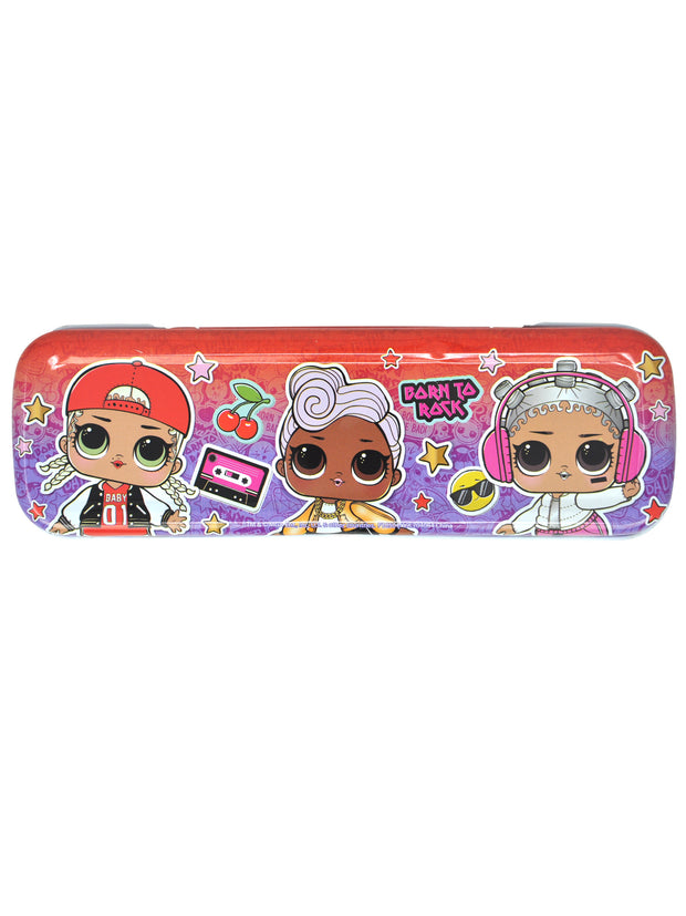 L.O.L. Surprise! Tin Pencil Case Rocker Diva Funky Q.T. Hip Hop Beats M.C. Swag