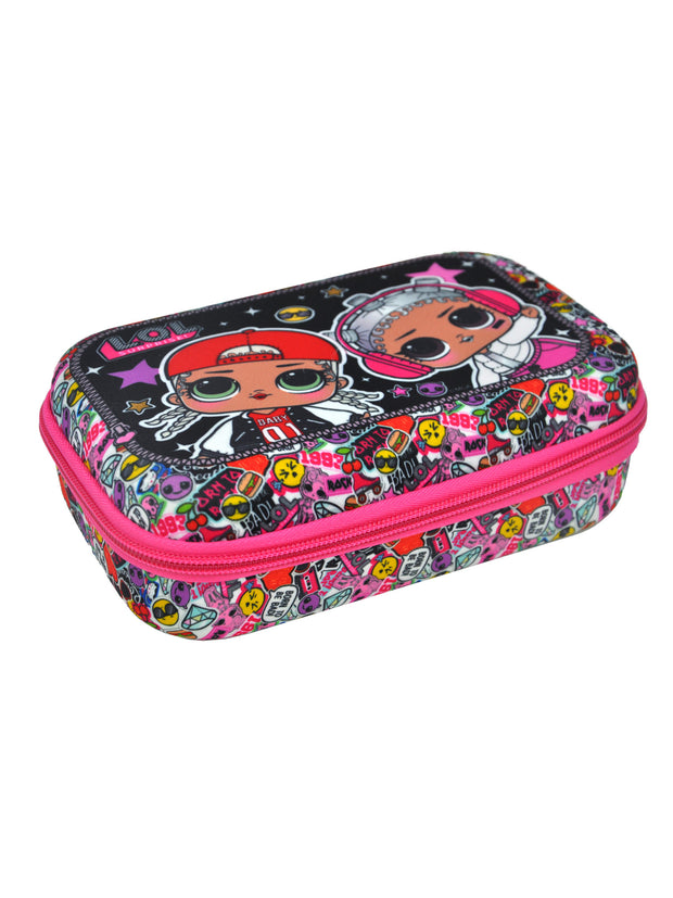 L.O.L. Surprise! Girls 3D Molded Pencil Case Zipper Closure M.C. Swag Beats