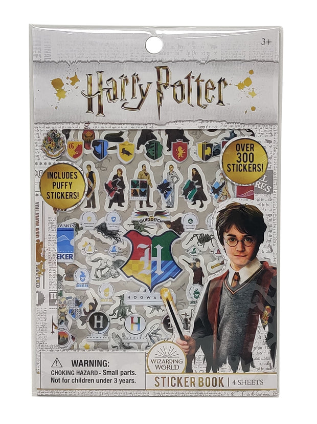 Harry Potter Hogwarts School House Crests Tin Pencil Case & Puffy Sticker Sheet