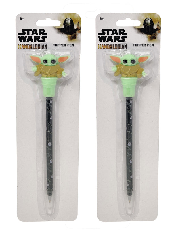 Star Wars The Mandalorian The Child Topper Pen Baby Yoda 2-Pack Set