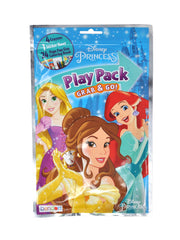"Princesses Cinderella Ariel 15"" Backpack & Grab-N-Go Play Pack Stickers Crayons"