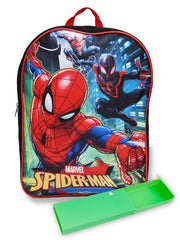 "Boys Spider-Man Backpack 15"" Team Up & Pencil Case 2pcs"