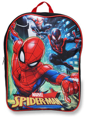 "Boys Spider-Man 15"" Backpack & Raised Stickers (11-CT)"