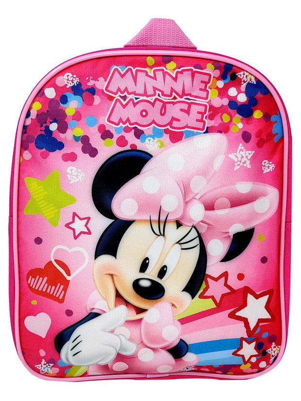 "Minnie Mouse Toddler Mini 12"" Backpack Pink & Sliding Pencil Case 2-Piece Set"