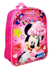 "Minnie Mouse Mini Backpack Pink 12"" & Charm Bracelet 2-Piece Set"