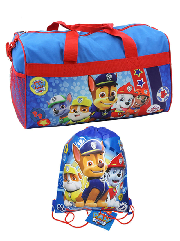 "Paw Patrol Top Pups Duffel Bag 18"" & Sling Bag 2-Piece Set"
