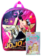 "JoJo Siwa Backpack 15"" Star w/ Grab & Go Play Pack Coloring Stickers Crayons"