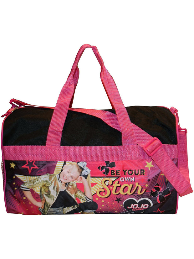 "JoJo Siwa Girls 18"" Duffel Bag w/ Grab & Go Play Pack Stickers Party Favor"