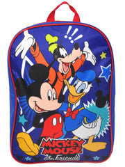 "Disney Mickey Mouse 15"" Backpack Goofy w/ Kids Grab & Go Play Pack Stickers Set"