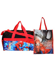 "Spider-Man Duffel Bag Carry-on 18"" & Non Woven 12"" Tote Bag 2-Piece Set"