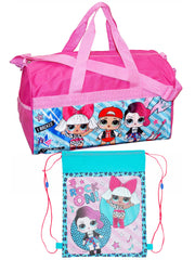 "Girls LOL Surprise! Carry-on Duffel Bag 18"" Pink & Sling Bag 2-Piece Set"