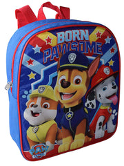 "Paw Patrol Mini 12"" Backpack Born Pawsome w/ Chase Marshall 3-Ring Pencil Pouch"