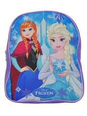 "Girls Disney Frozen Anna Elsa Small 12"" Backpack Blue Purple"