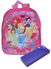 "Disney Princesses 12"" Backpack Small & Sliding Pencil Case 2-Piece Set"