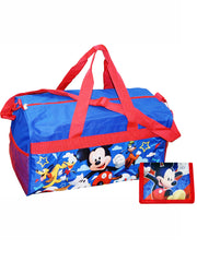 "Kids Mickey Mouse 18"" Duffel Bag & Bi-Fold Wallet 2-Piece"