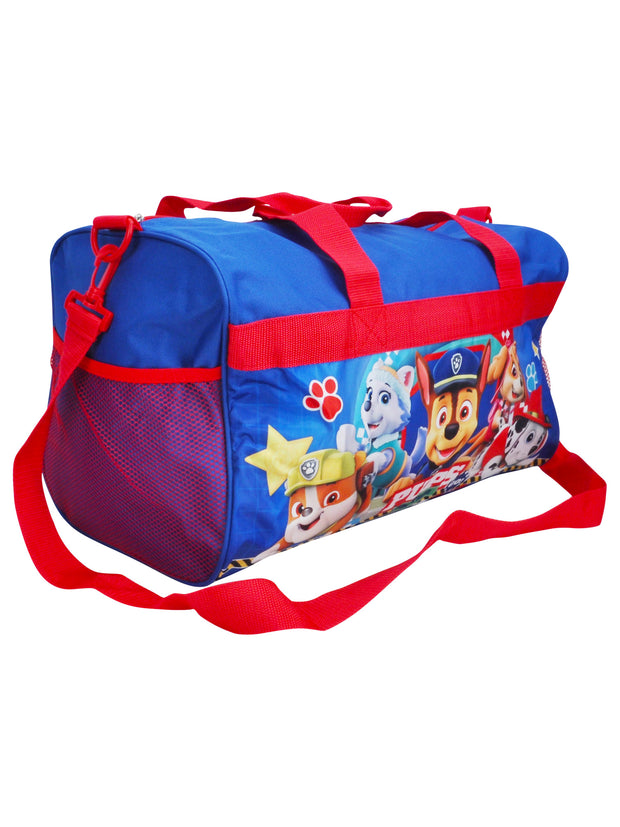 "Paw Patrol 18"" Duffel Bag Pups on the Go & Ready For Action Sling Bag 2 PC Set"