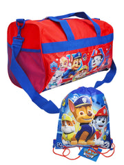 "Paw Patrol Red Duffel Bag 18"" Calling All Pups & Sling Bag 2-Piece Set"