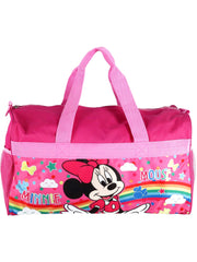 "Disney Minnie Mouse Duffel Bag 18"" Carry on w/ Grab & Go Crayons Coloring Book"