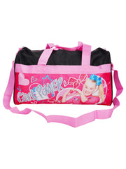 "JoJo Siwa 18"" Duffel Bag Travel Carry-On Girl Power Bows Hearts Black Pink"