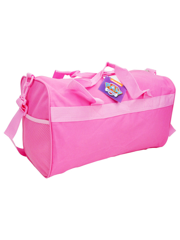 "Girls Paw Patrol Duffel Bag 18"" - Believe in Yourself Pink"
