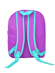 "Frozen Girls 15"" Backpack Elsa Anna Purple Teal"