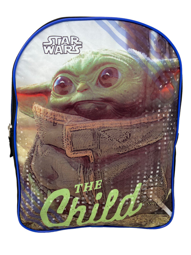 "Disney Star Wars 15"" Backpack ""The Child"" w/ The Mandalorian 3D Raised Stickers"