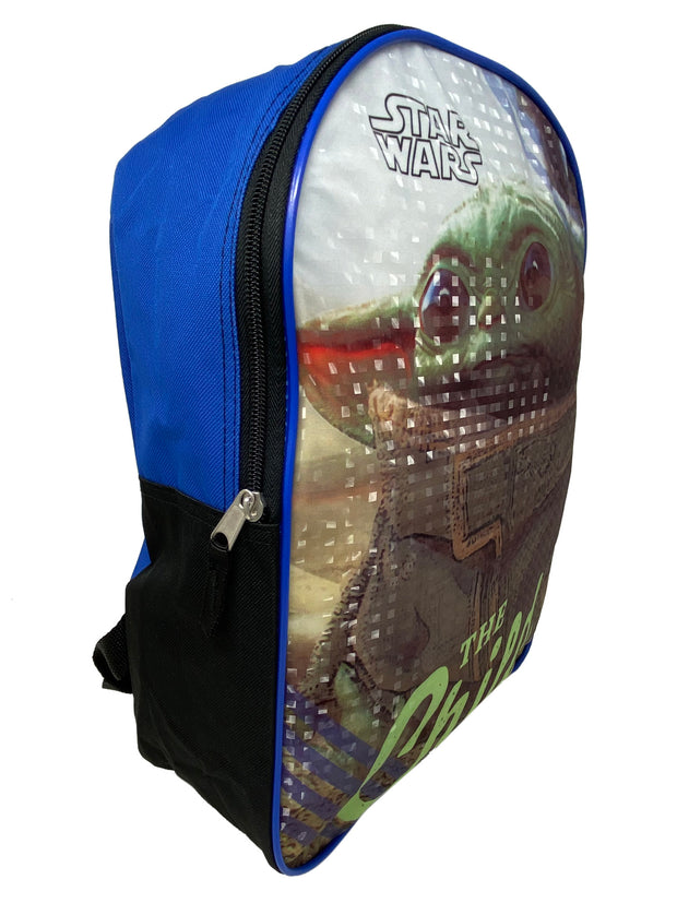 "Disney Star Wars 15"" Backpack Baby Yoda w/ The Child Insulated Lunch Bag Set"