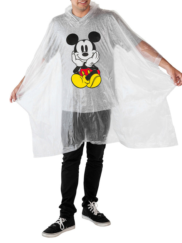 Mom Dad Mickey Mouse Waterproof Rain Ponchos 2-PACK