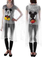 Women's Mickey Mouse Waterproof Rain Poncho - Adult