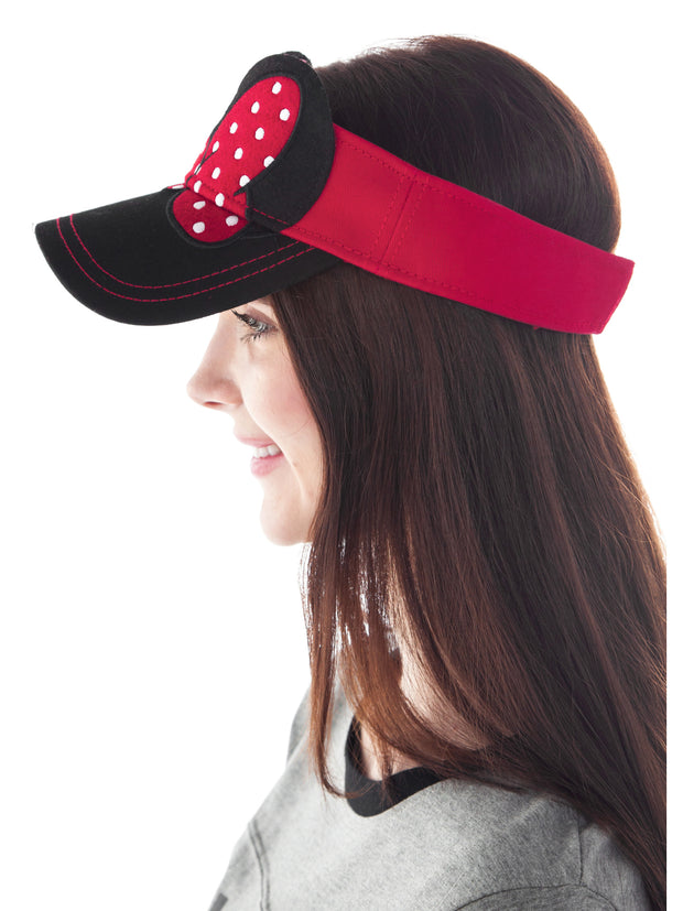 Mom Womens Disney Minnie Mouse Visor Hat with Bow