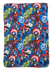 "Marvel Avengers Throw Blanket 45"" x 60"" Thor Hulk Captain America"